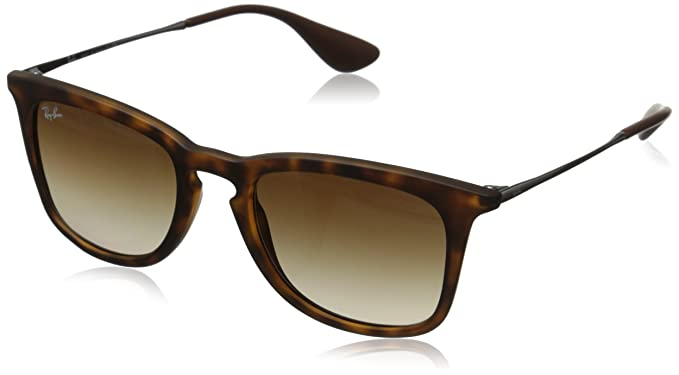 Amazon.com: Ray-Ban INJECTED MAN SUNGLASS - DARK RUBBER HAVANA Frame ...