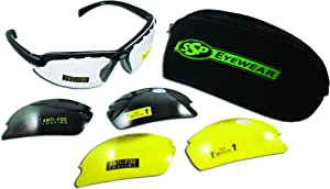 SSP Eyewear Top Focal Tactical Safety Glasses Kit with Assorted Interchangeable 2.00 Bifocal Lenses, TF 2.00 AST KIT