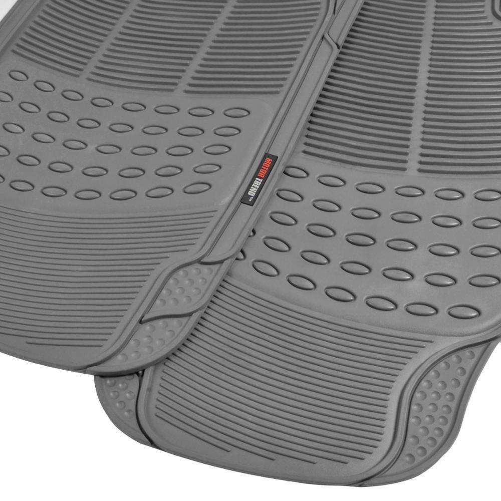 Gray 100/% Odorless /& All Weather Heavy Duty Motor Trend FlexTough Rubber Floor Mats for Car /& SUV