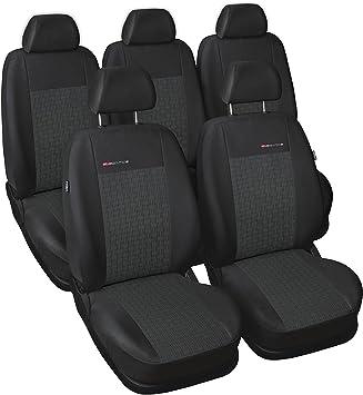 Universalbezug Schonbezug Autositzbezug Komplettset Stoff schwarz-grau