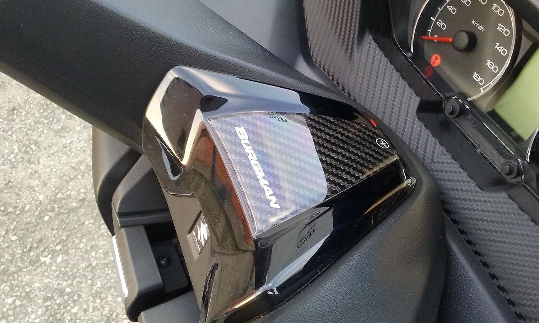 Autocollant 3D Guidon Compatible pour Scooter Suzuki Burgman 400 Partir 2017 Adh/ésif
