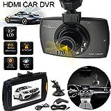 """Heliomax 1080P HD Caméra de voiture embarquée LCD couleur 2,7 """" Full HD capteur-G DVR Enregistrement avec le menu français"""
