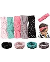 Mookiraer Baby Girl Newest Round Dot Turban Headband Head Wrap Knotted Hair Band