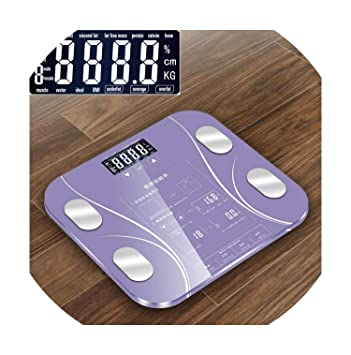 d18e704bef25 Amazon.com: Touch Button Bathroom Weight Scale LCD Smart Body ...