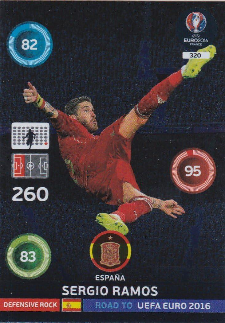 Unbekannt PANINI ADRENALYN XL Road TO Euro UEFA - 2016 Sergio Ramos Motivo Carte de défense: Amazon.es: Juguetes y juegos