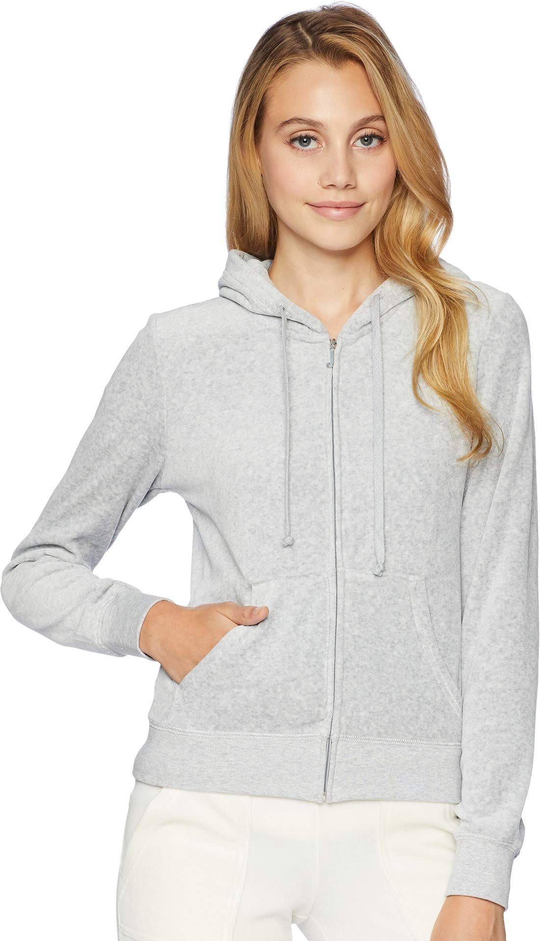 Juicy Couture Black Label Women's Velour Robertson Jacket, Silver Lining, S