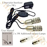 Ultraviolet Sterilizer UV Ozone Sterilizing Lamp Heating Dehumidification Shoe Sanitizer+2x Additional Lamps (Silver 6W)