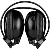 XTRONS IR Wireless Dual Channel Stereo Headphones Infrared Headsets Cordless 2 Channels with built-in IR transmitter