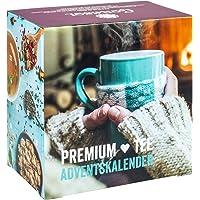 Premium Tee-Adventskalender 2019 XXL, 24 weihnachtliche Gourmet-Teesorten, 192 g loser Tee, Geschenk-Idee für Männer & Frauen