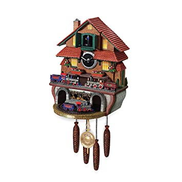 Amazon.com: Train Cuckoo Clock: Golden Spike by The Bradford ...