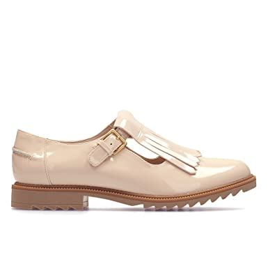 f0afa31ea939 Clarks Griffin Mia Leather Shoes In Nude Pink Wide Fit Size 6½  Amazon.co.uk   Shoes   Bags