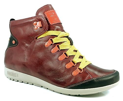 Pikolinos mujer, - Botines Lisboa, W67 - 7667 C3, color Rojo, talla 39: Amazon.es: Zapatos y complementos