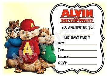 Alvin And The Chipmunks Dinvitation Pour Anniversaire