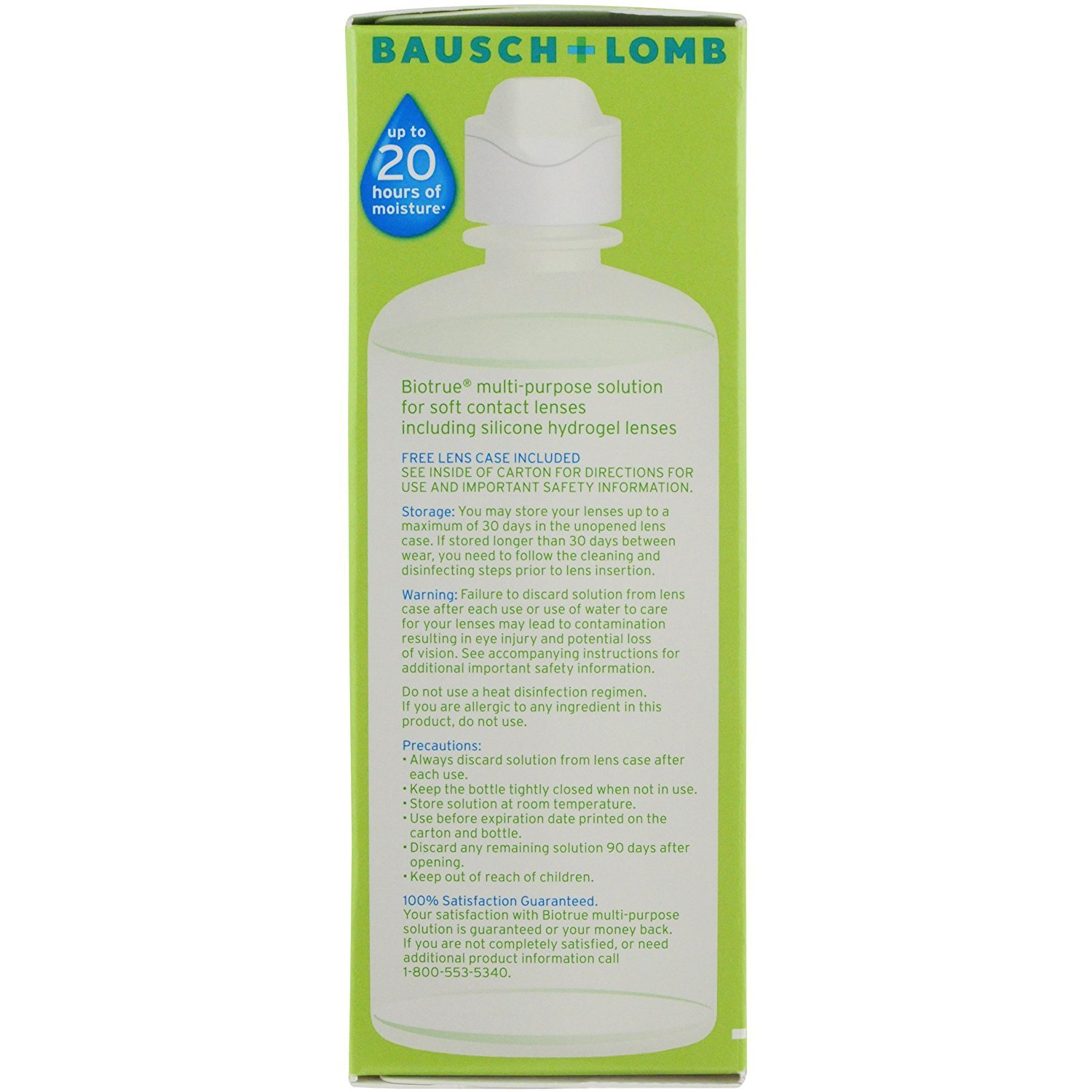 Bausch and Lomb BioTrue Soft Contact Lense & Silicone Hydrogel Lense Moisturizing Solution 10 oz, 2 Twin Packs