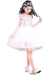 864cfe4a87091  eones ドレス 子供 フォーマルドレス 子供服 ワンピース 花刺繍 ホワイト パステルカラー 花