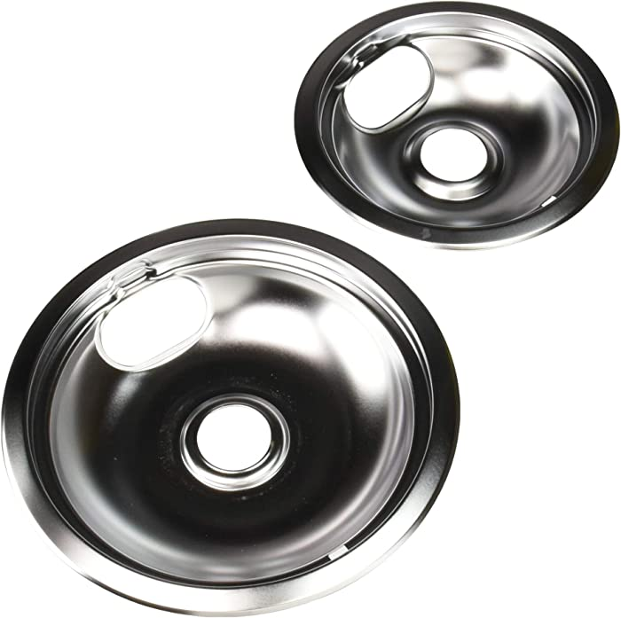 Range Kleen 12782Xcd5 Style A Chrome Drip Pans, 2-Pack