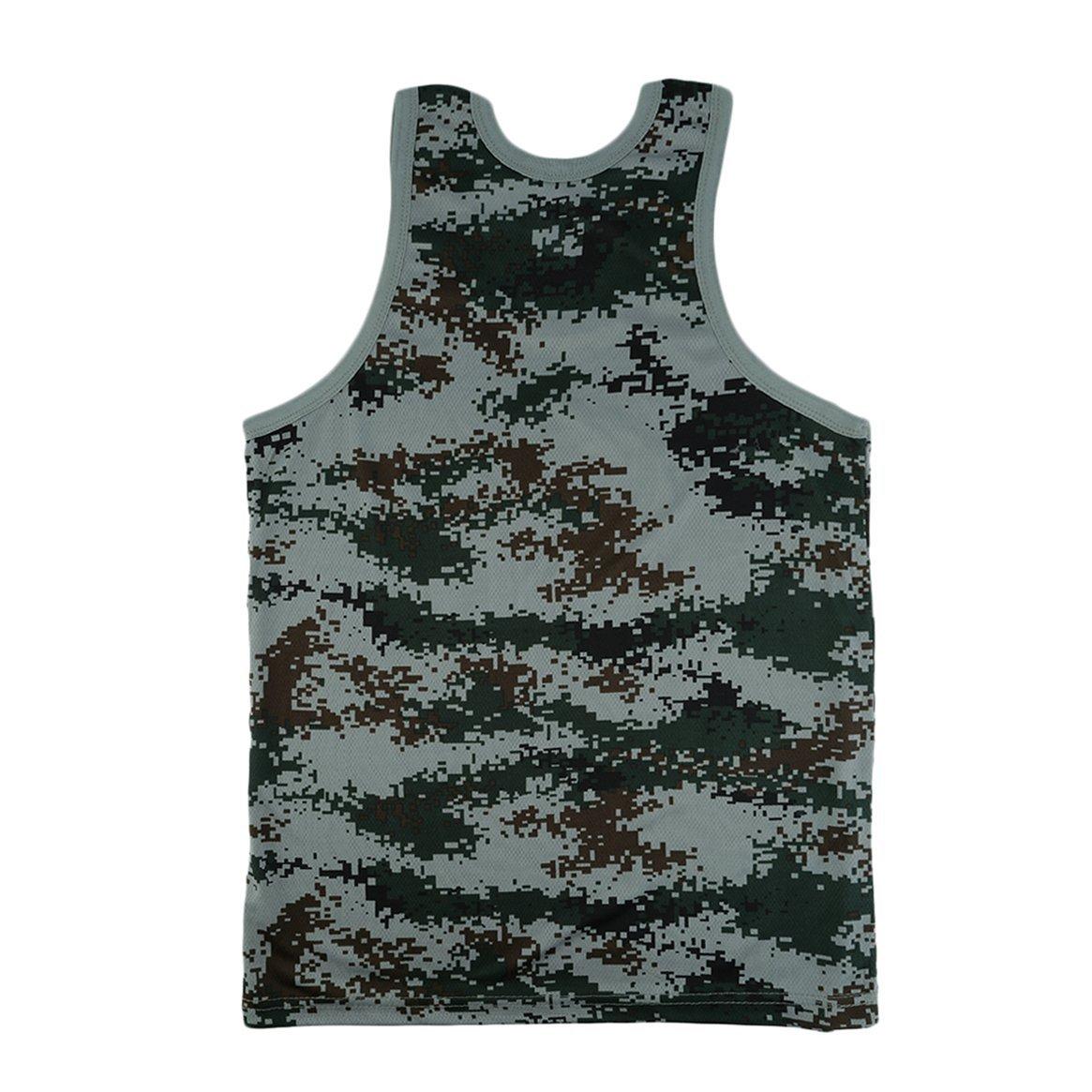 01174d63e6792 Hommes Mode Militaire Style Hommes Gilet Camouflage Débardeur Stretchy  Sauvage Serré Gym Sport Maigre Musculation Vêtements de Sport: Amazon.fr:  Vêtements ...