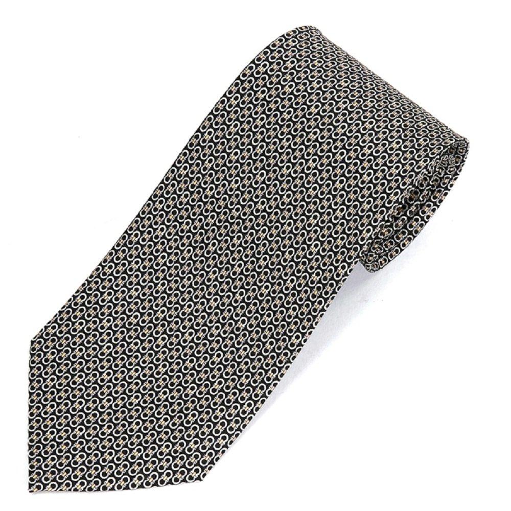 Salvatore Ferragamo Men's Black Gancini Neck Tie