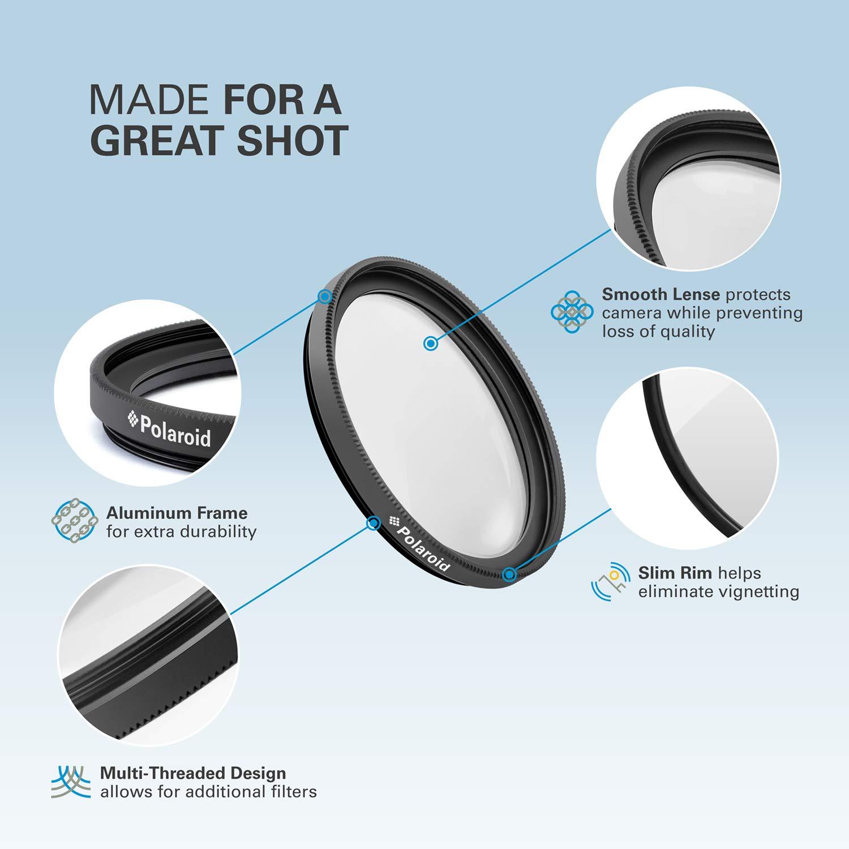 Juego de filtros de 52 mm de 3 piezas UV, CPL, FLD Polaroid Optics PL3FIL52