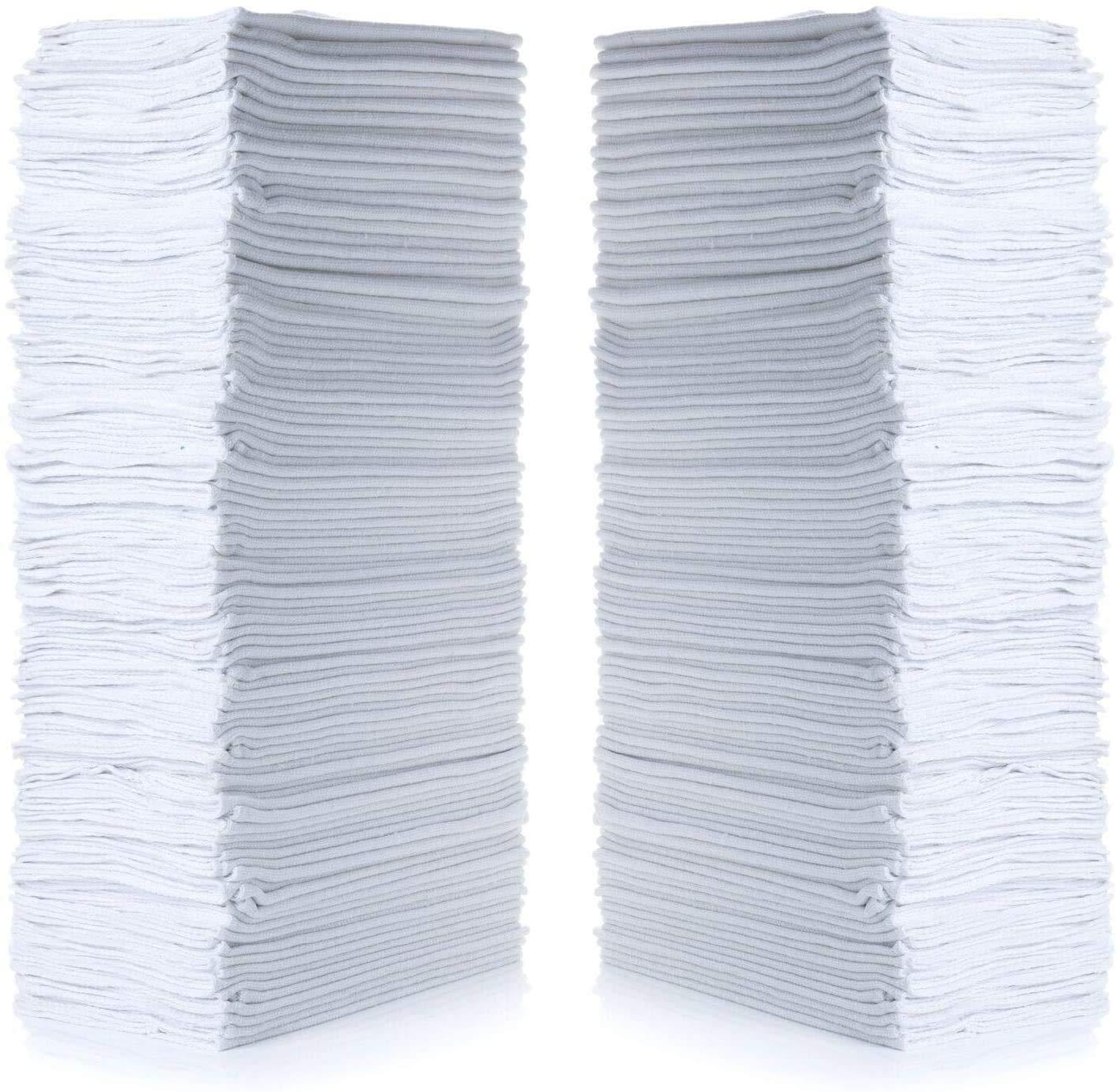 "Simpli-Magic 79100 Shop Towels, 14""x12"" Basic, White, 50 Pack"