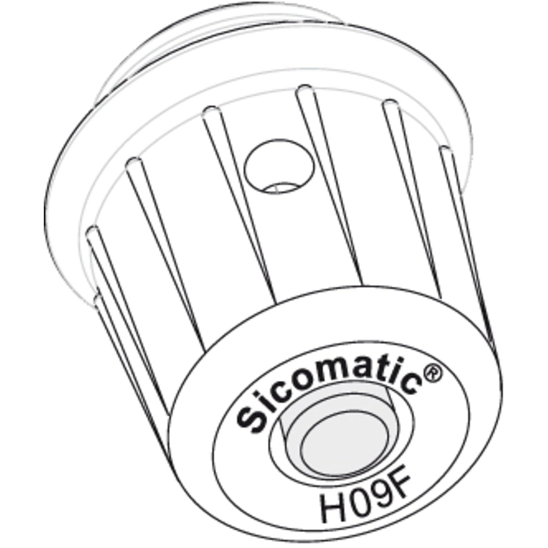 Silit Spare Part Operating Valve for Pressure Cooker Sicomatic T-Plus/Classic Plastic Black