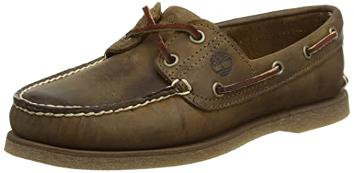 ae541338ac0c Timberland Men s Classic 2-Eye Boat Shoes Brown  Amazon.co.uk  Shoes ...
