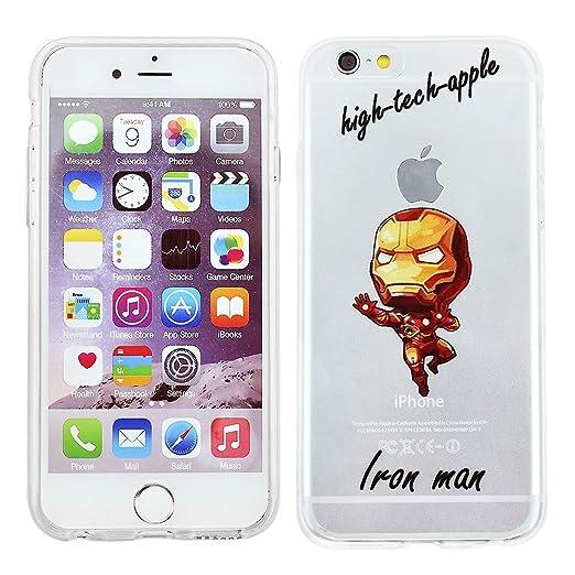 7 opinioni per iPhone 5/5s Marvel Cassa del Silicone Fumetto / Copertura del gel per Apple