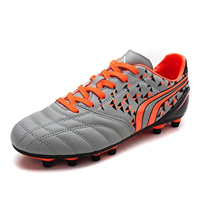 DREAM PAIRS Toddler 160860-K Grey Orange Black Soccer Football Cleats Shoes  - 10 M 116bb7a1fa23