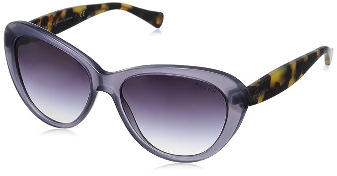 Ralph by Ralph Lauren Women's 0RA5189 Rectangular Sunglasses, Aqua,Satin,Dark Tortosie,Blue,Grey Gradient & Satin Dark Tortoise, 56 mm