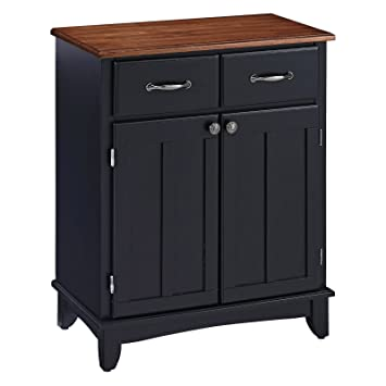 Home Styles Small Wood Server Kitchen Island