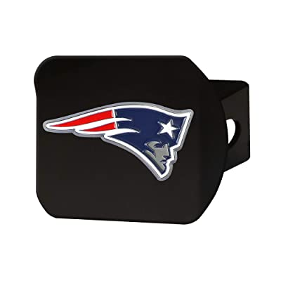 "FANMATS NFL New England Patriots Metal Hitch Cover, Black, 2"" Square Type III Hitch Cover: Automotive"