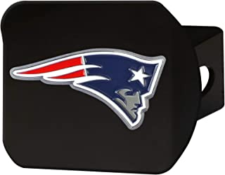 """product image for FANMATS 22586 NFL New England Patriots Metal Hitch Cover, Black, 2"""" Square Type III Hitch Cover,Blue"""