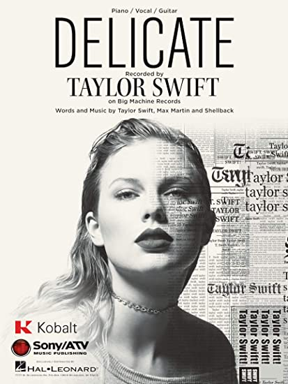 Amazon Com Taylor Swift Delicate Piano Vocal Guitar Sheet Music Single Musical Instruments