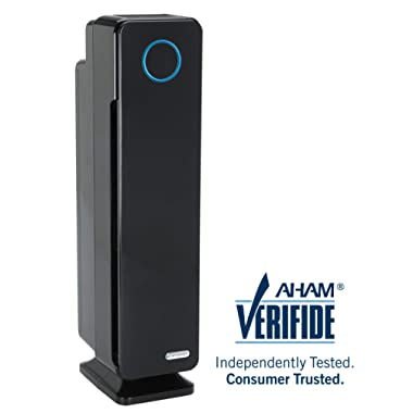 Germ Guardian True HEPA Filter Air Purifier for Home, Office, Large Rooms, Filters Allergies, Pollen, Smoke, Dust, Pet Dander, UVC Sanitizer Eliminates Germs, Mold, Odors, Quiet 28 inch 4-in-1 AC5350B