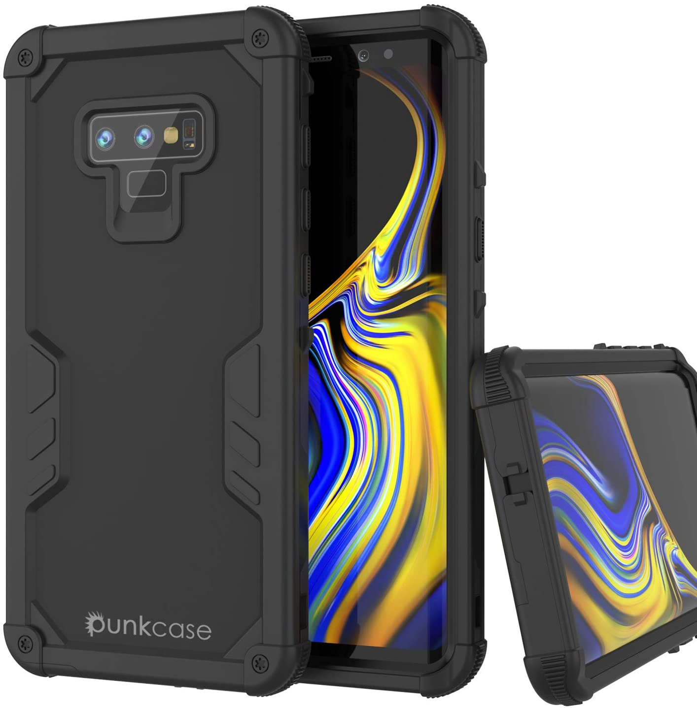 Punkcase Galaxy Note 9 Waterproof Case [Navy Seal Extreme Series] [Slim Fit] [IP68 Certified] [Shockproof] [Dirtproof] 360 Full Body Armor Cover Compatible with Samsung Galaxy Note 9 [Black]