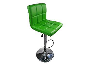 Lime Green Decor It Classic Dense Luxury Faux Leather Swivel Breakfast Bar  Stools Chairs Chrome