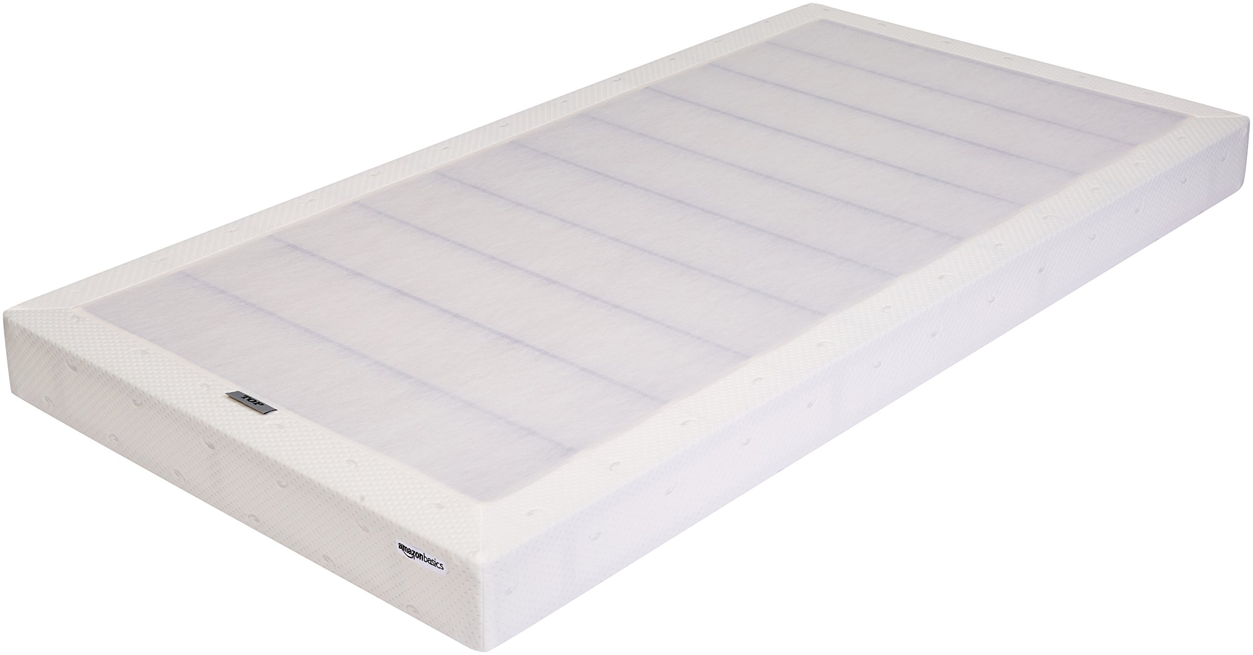 AmazonBasics Mattress Foundation / Smart Box Spring, Tool-Free Easy Assembly - 5-Inch, Twin
