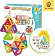 Mia Bambina 56 PCS MiniMagical Magnet I Magnetic Building Blocks | Colourful 3D Magnetic Tiles with Wheels | Educational STEM Learning Toy | Develops Creativity, Fine Motor Skills |  Kids Aged 3+