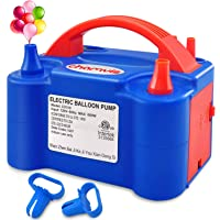 chamvis Electric Balloon Pump Dual Nozzle Inflator Blower for Balloon Column Stand, Party Balloon Arch Kit Decoration US…