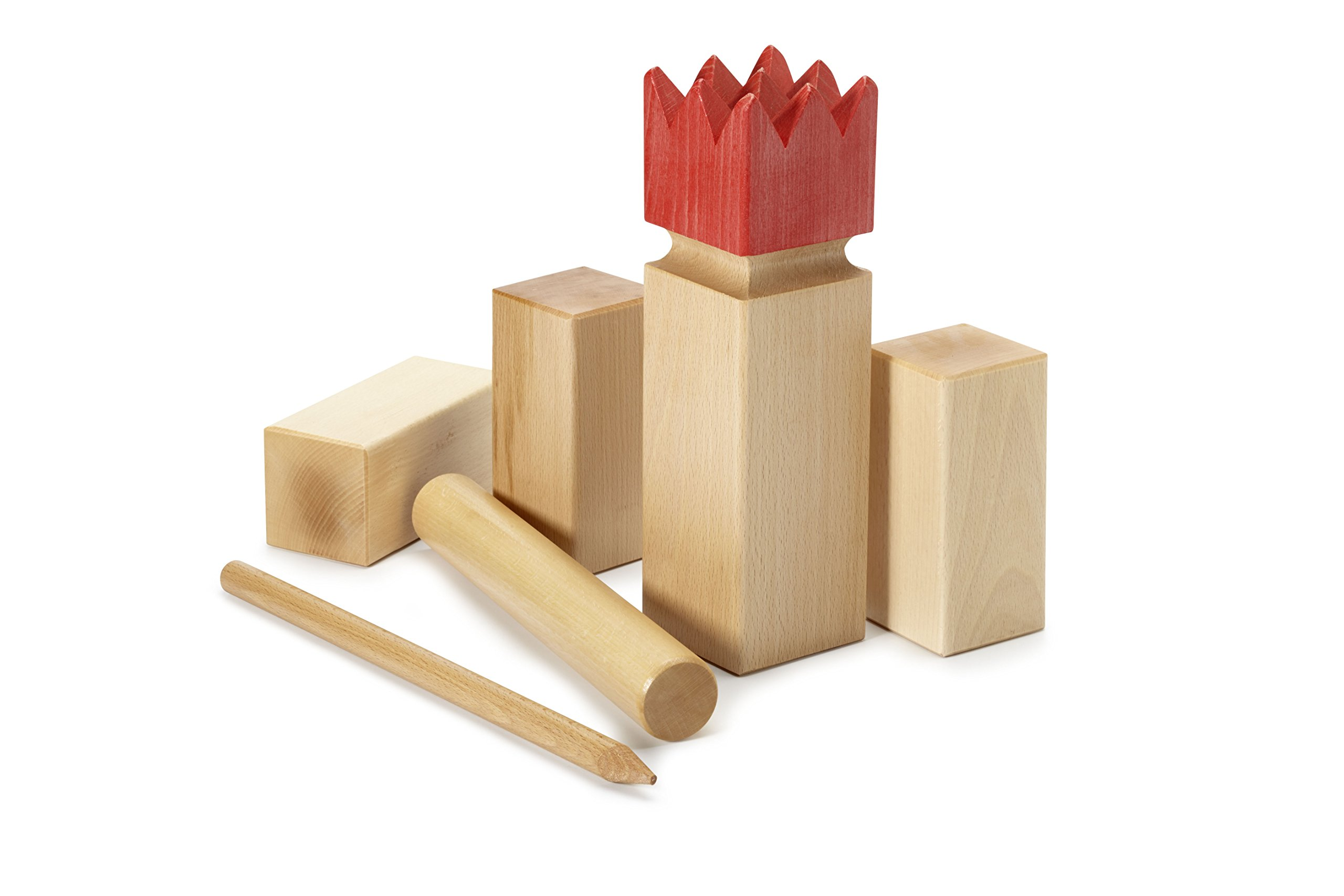 Kubbspel Classic Kubb Official U.S. Tournament Size Natural (Made in Italy) 19.8 lbs.