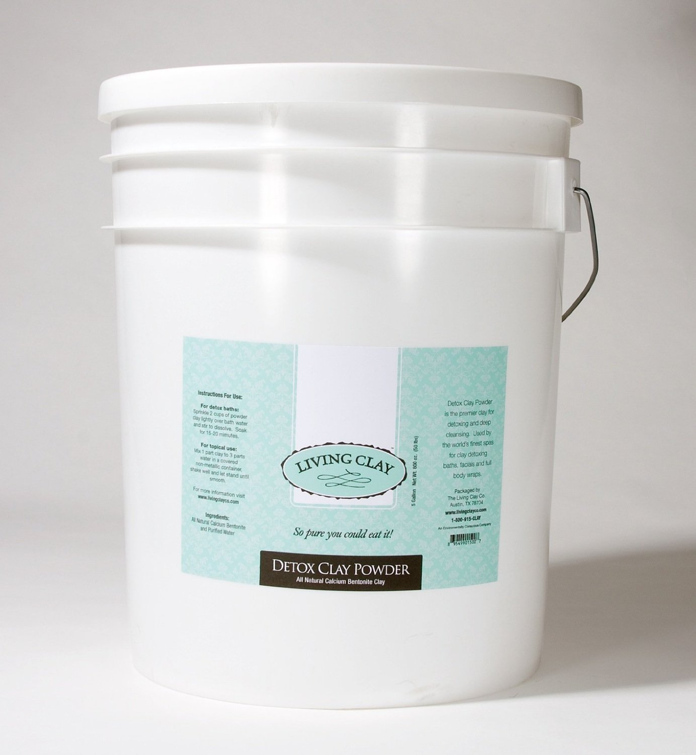 All Natural Calcium Bentonite Clay Powder - ''Living Clay'' - Purest Clay on Earth. (18 Kgs - 40 lbs - 5 Gallon)