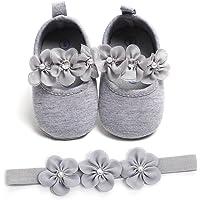 Zapatos de Niña con Diadema Regalo Set Bautizo