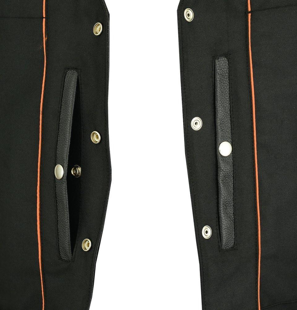 Womens Motorcycle Riding Stylish Longer Body 3//4 Leather Vest 3XL