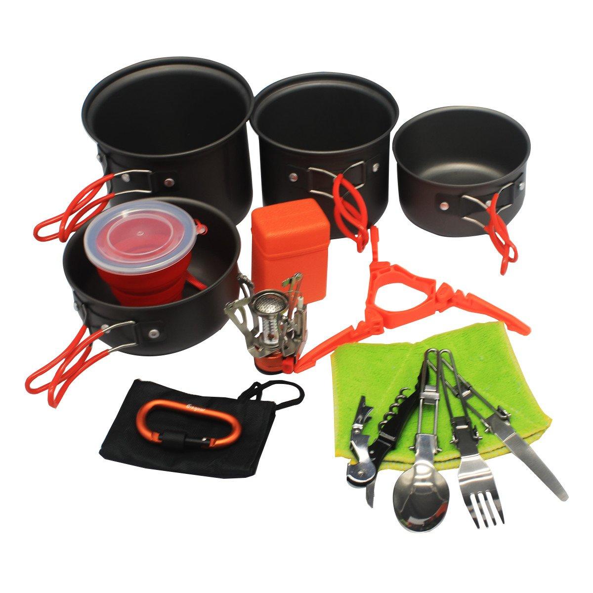 【売れ筋】 Bisgear 13個 キャンプ ハイキング 調理器具 ストーブ B07CLM9J36 カラビナ キャンプ キャニスター スタンド 三脚 折りたたみ可能 カップ 調理器具 汚れキット バックパッキング クッキングギア ハイキング ポット パン アウトドア クックセット バグアウトバッグ ワインオープナー 15pcs Orange B07CLM9J36, Import shop Glasgow グラスゴー:3d79d0f2 --- lanmedcenter.ru