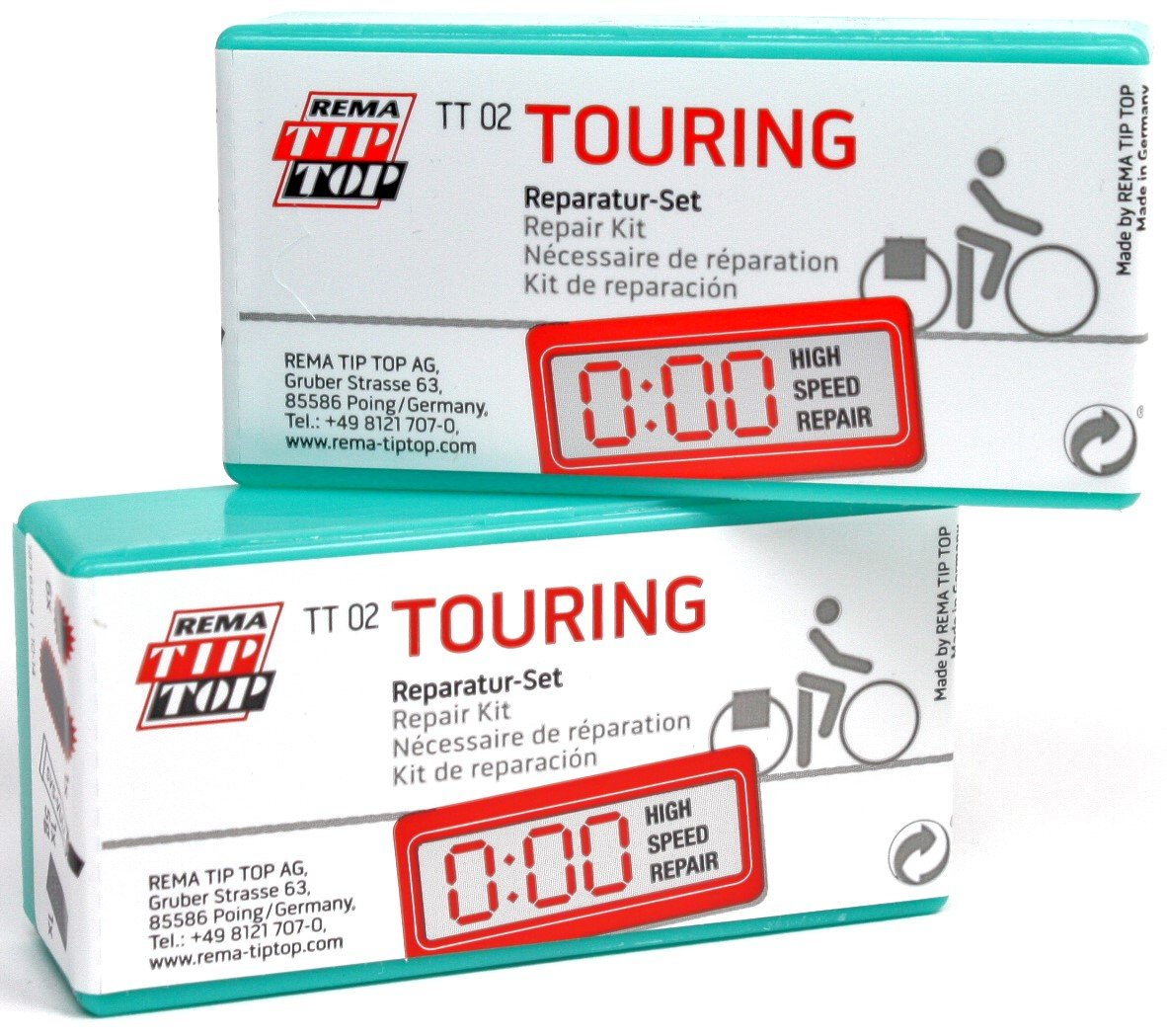 Puncture repair: rema tip top puncture repair kit.