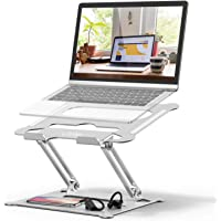 Laptop Stand, Laptop Holder, Multi-Angle Stand with Heat-Vent to Elevate Laptop, Adjustable Notebook Stand for Laptop up to 17 inches, Compatible for MacBook Pro/Air, Surface Laptop (Silver)