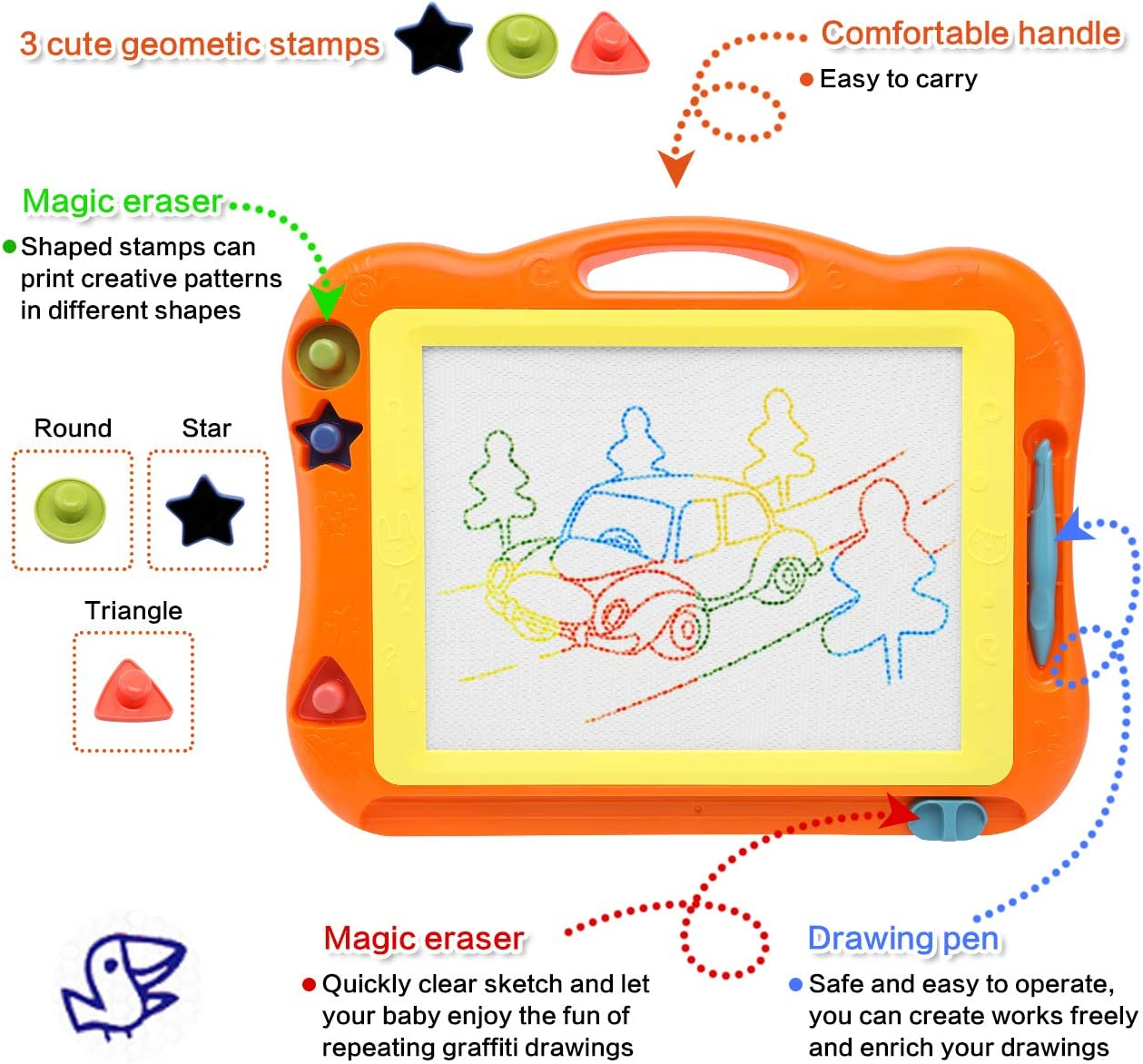 Office Writing Drawing Board,Handwriting Pad,Message Board for Kids Family Memo YUMEIGE Magnetic /& Mechanical Drawing Boards 13 Inch Drawing Graffiti Board with Stylus,LCD Writing Tablet