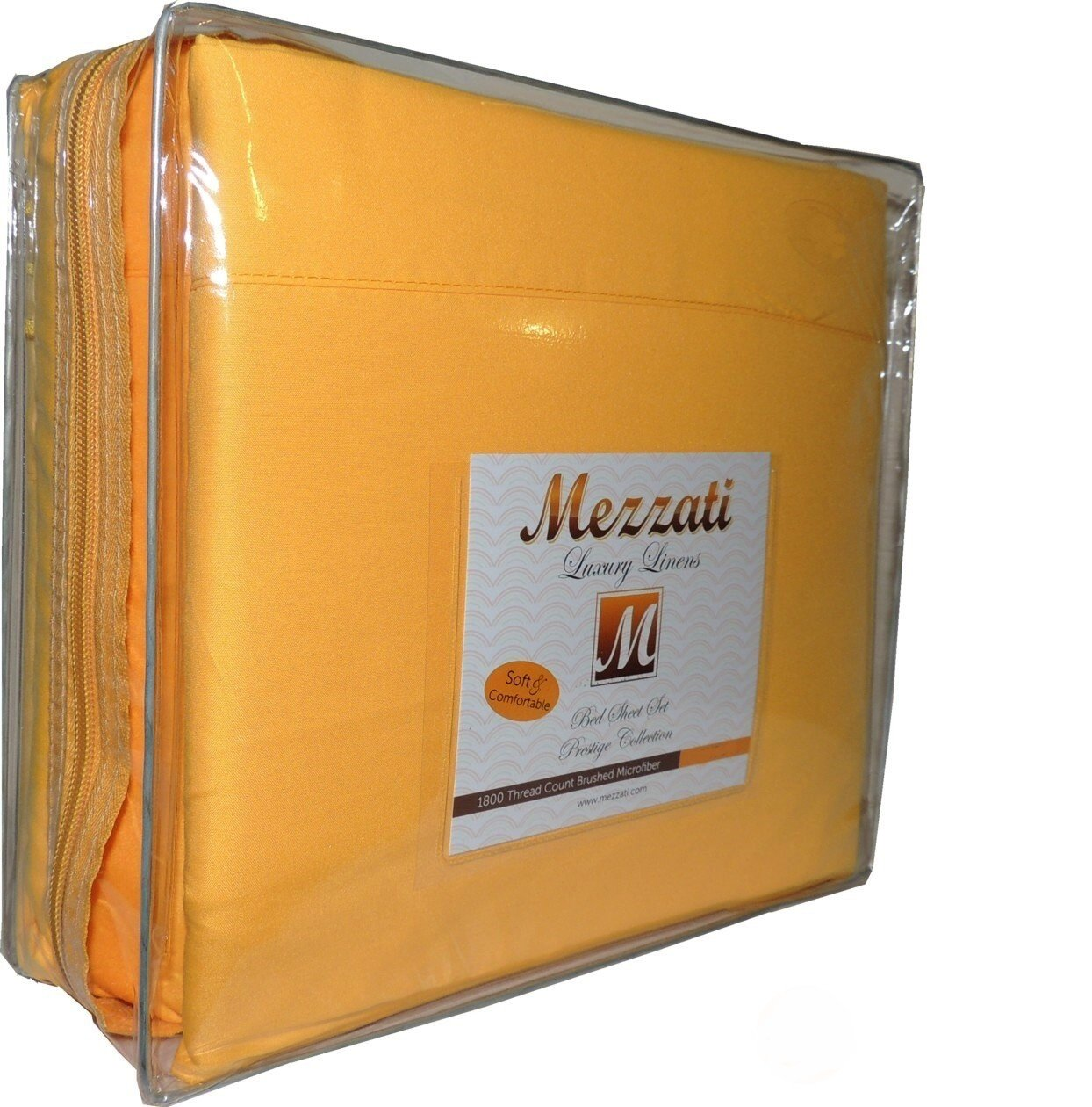 Mezzati Luxury Bed Sheets Set Yellow