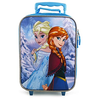 Amazon.com | Disney Frozen Rolling Luggage Trolley [Anna and Elsa ...