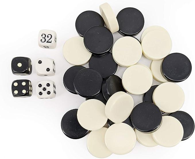 Sondergut - Backgammon Remplazo de Dados y Fichas: Amazon.es: Juguetes y juegos